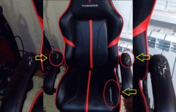 Компьютерное кресло требующее ремонта